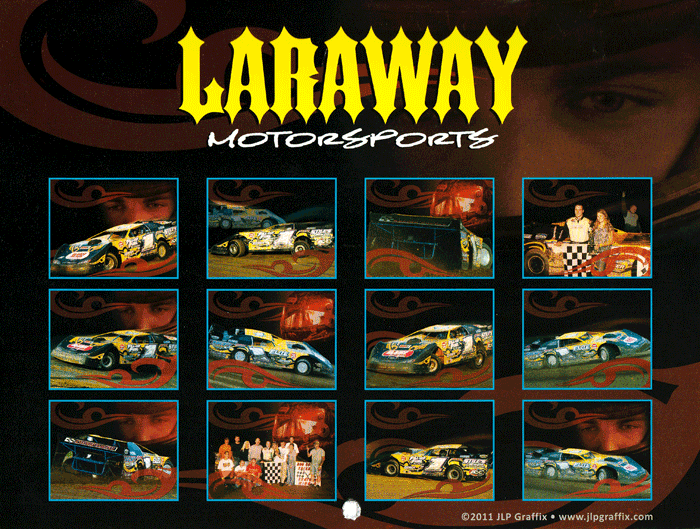 Calendar design for Laraway Motorsports in Irwin, PA.
