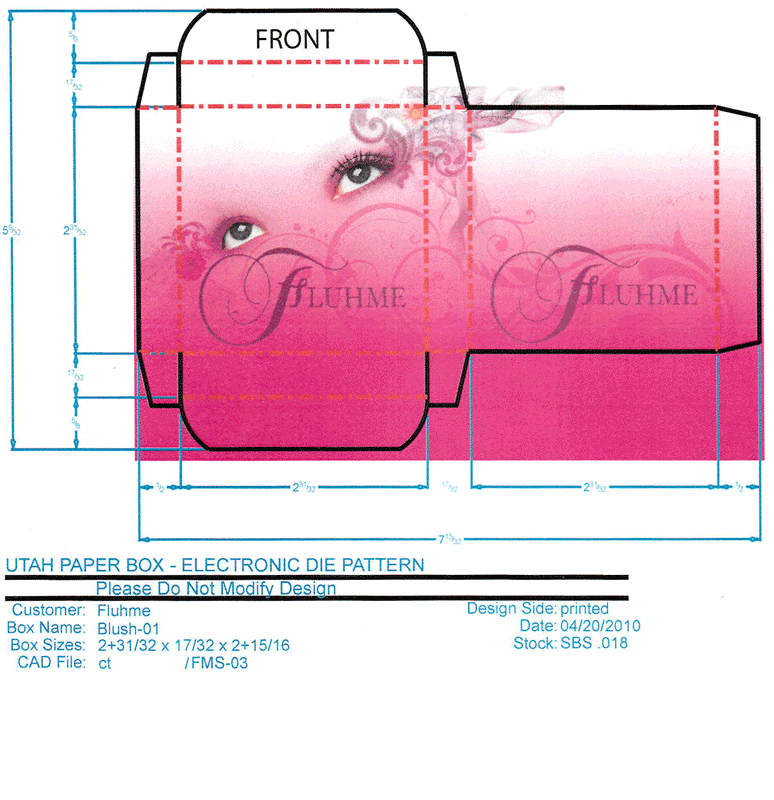 A package design for cosmetic creme produced by Flume Cosmetics.