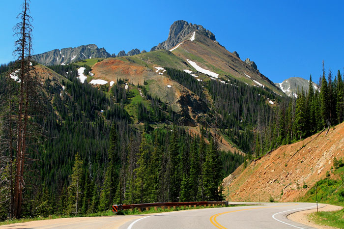 Nokhu Crags are located in the northern end of the Never Summer Mountain Range, State Park, Colorado